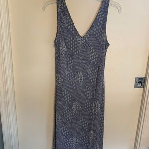 light blue patterned dress